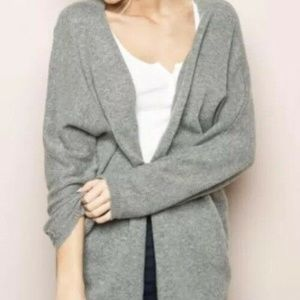 Brandy Melville Gray Wool Knit Open Front Cardigan